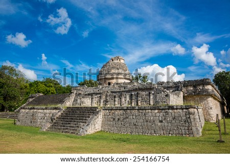 Traveling America, Mayan Ruins, Mexico Quintana Roo. - stock photo