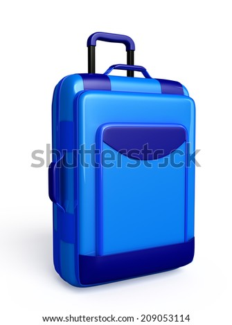 Traveling bag isolated  - stock photo