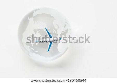 Traveling by jet plane  - stock photo