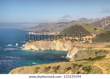 Traveling Highway One, California, USA - stock photo