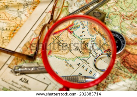 Traveling in the history is an important part of education - stock photo