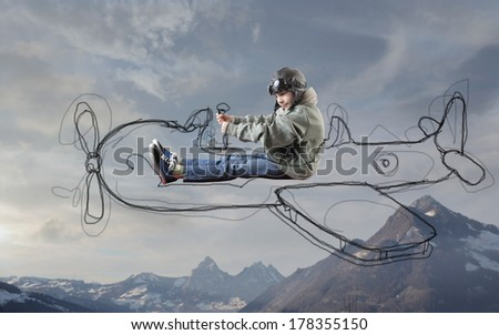traveling kid - stock photo