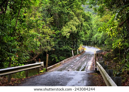 traveling the Daintree National Park, Queensland, Australia - stock photo