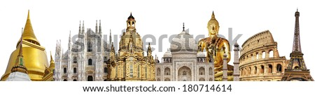 travelings concepts - world famous landmarks - stock photo