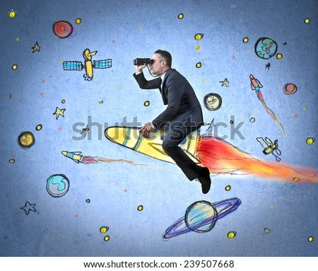 Travelling in the space  - stock photo