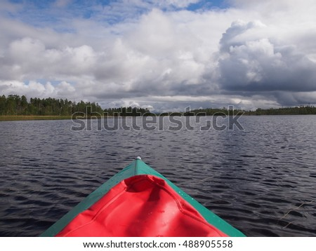 travelling with kayak rivers of russian north