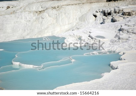 Travertine pools and terraces, Pamukkale, Turkey