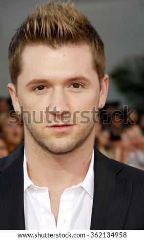 """Travis Wall at the Los Angeles premiere of """"Step Up Revolution"""" held at the Grauman's Chinese Theatre in Los Angeles, California, United States on July 17, 2012.   - stock photo"""