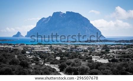 Travolta Island. Sardegna. Italy - stock photo