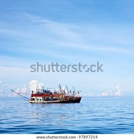Trawlers Group - stock photo