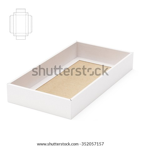 Tray Box with Die Cut Template