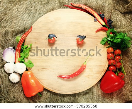 tray for pizza with vegetables - stock photo