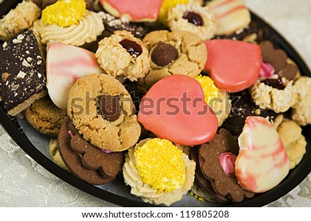 Tray of Assorted Cookies - stock photo