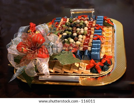 Tray of luxury sweets