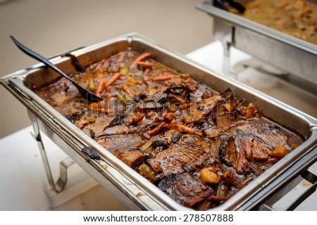Tray With Meat - Beef - stock photo