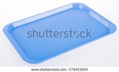 trays. tray on the background - stock photo