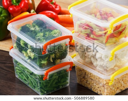 Vegetables Storage Containers Trays raw vegetables freezing stocking winter stock photo download trays with raw vegetables for freezing stocking up for winter storage in plastic containers workwithnaturefo