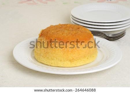 treacle pudding - stock photo
