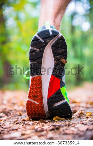 Tread running shoes