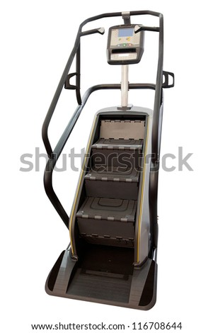 treadmill in the form of ladder isolated under the white background - stock photo