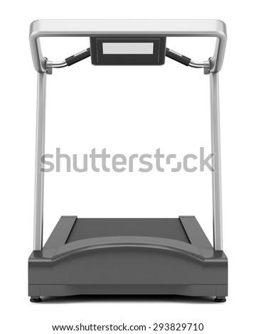 treadmill isolated on white background - stock photo