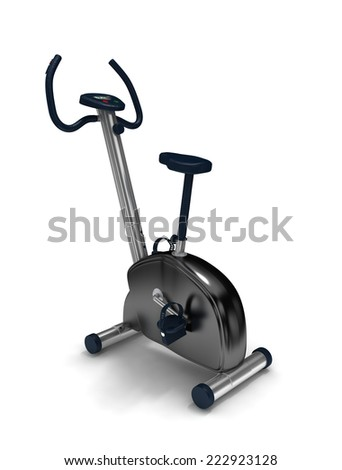 treadmill on white background.