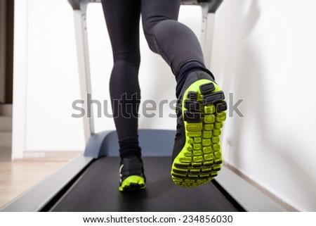 treadmill running - stock photo