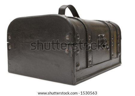 Treasure Chest (Front Side View) - stock photo