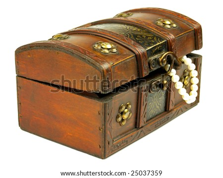 Treasure Chest on a white background