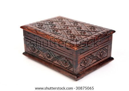 Treasure Chest on a white background - stock photo