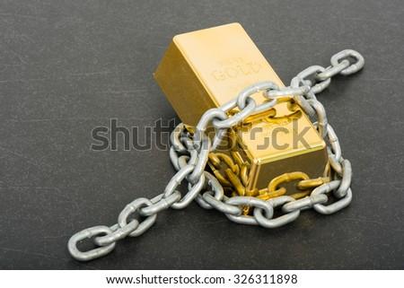 Treasure, Gold - stock photo
