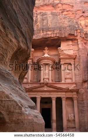 Treasure house in Petra, Jordan