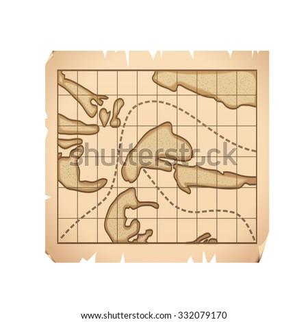 Treasure map - stock photo