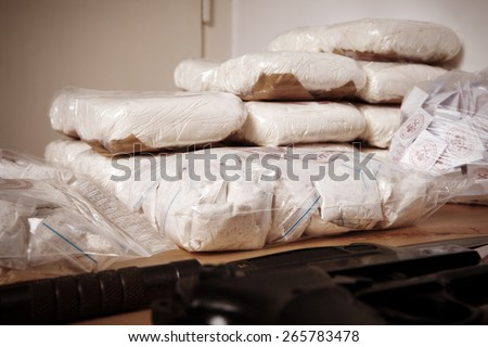 Treasure of criminals - stock photo