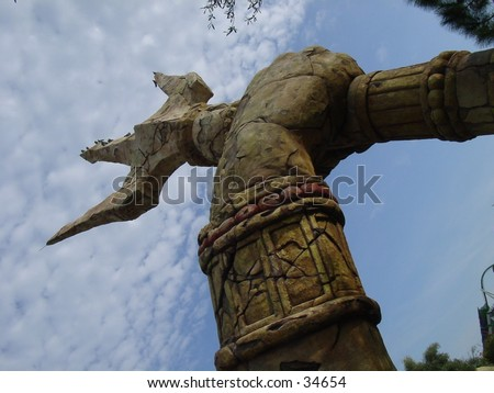 treasure poseidon sculpture universal orlando resort florida - stock photo