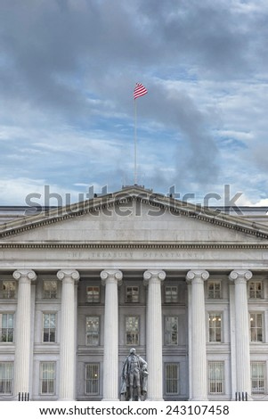 treasury department building in washington DC - stock photo