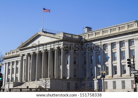 Treasury Department Building, Washington, DC, USA - stock photo