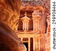 Treasury in Petra (Al Khazneh), Jordan - stock photo