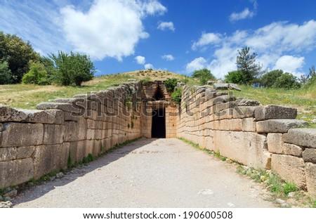 Treasury of Atreus, Mycenae, Greece - stock photo