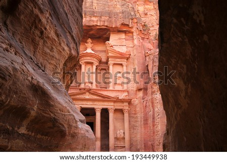 Treasury, Petra at the gorge entrance, Jordan