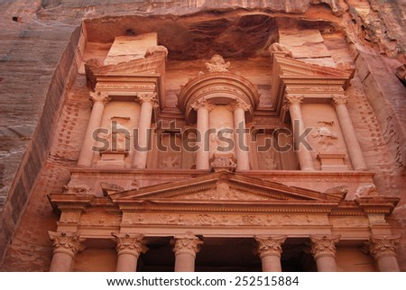 Treasury, Petra, Jordan - stock photo