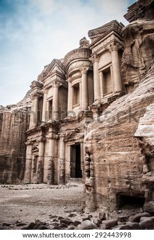 Treasury. Petra, Jordana - stock photo