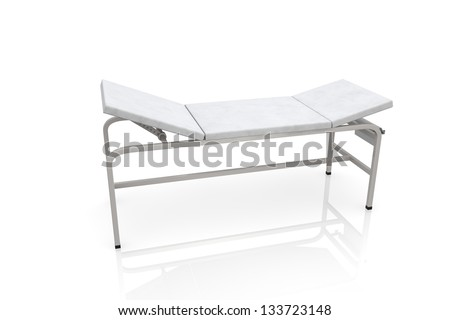 Treatment couch - stock photo