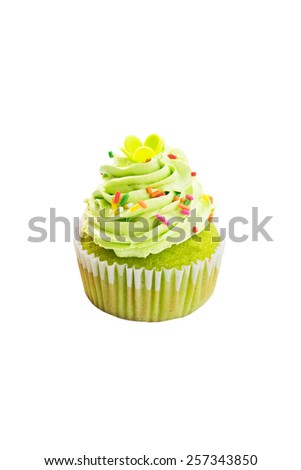 tree cupcake on isolation background,save work paths