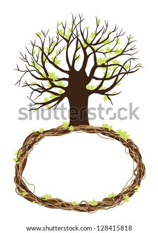 tree frame - stock photo