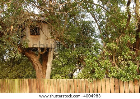 Tree-house - stock photo