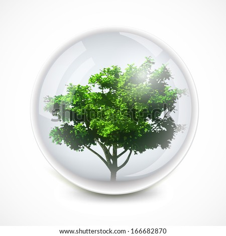 Tree in a bubble - stock photo