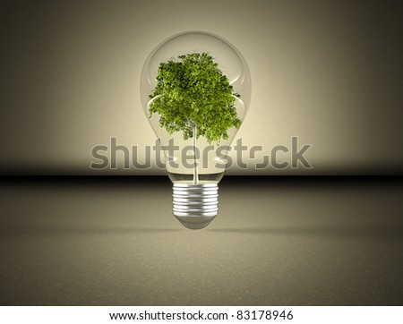 Tree in a light bulb image