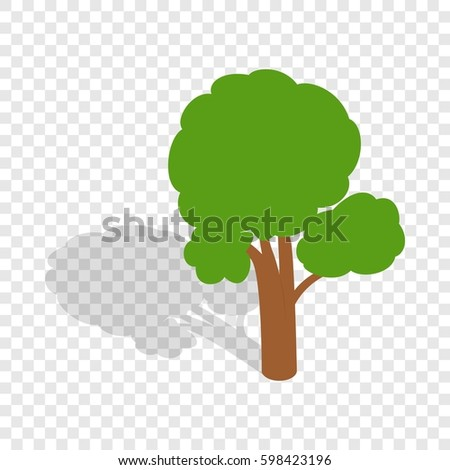 Tree Isometric Icon 3d On A Transparent Background Illustration