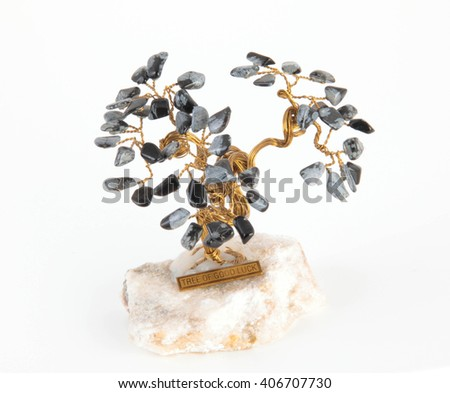 Tree of happiness isolated - stock photo
